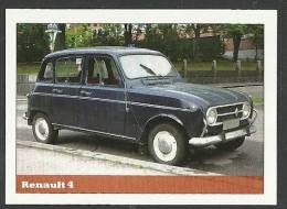 Renault 4 Sticker - Size:70x50 Mm. Aprox. - Collection Of  Cars (240 Differents) - Sammelbilder, Sticker