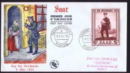 1955  Journée Du Timbre Yv 342 Variété «Point Dans Le 5 De La Valeur, Côt. Droit» FDC - FDC