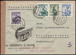 "Austria 1952, Cover Wien To Stuttgart ""RILOGA"", Censorship - 1945-.... 2nd Republic"