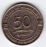 Jeton De Slot : Casino De Mandelieu 50 Cents - Casino