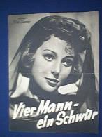 Filmprogramm, Vier Mann - Ein Schwur, Illustrierter Film - Kurier Nr. 2865, 30er Jahre, David Niven Und Andera - Film & TV