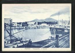 Cartolina Portici, Granatello E Vesuvio - Portici