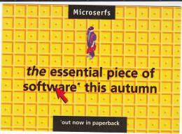1990s MICROSERFS BOOK Advertizing  Postcard Harper Collins - Advertising