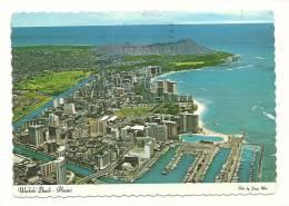 Cp, Etats-Unis, Waïkiki Beach, Voyagée 1977 - Etats-Unis