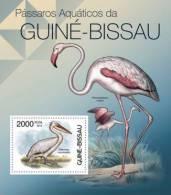 gb12312b Guinea Bissau 2012 Waterbirds of Guinea Bissau s/s Pelican Flamingo Michel: 5861 / Bl.1034