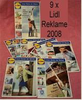 9 X Lidl Präsentiert  2008 Reklame Prospekte  - Insgesammt  Ca. 240 Seiten - Reklame