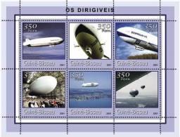 gb1428 Guinea Bissau 2001 Zeppelins s/s Michel: 1773-1778