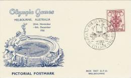 Australia 1956 Melbourne Olympic Games, The Village Entrance, Souvenir Card - Summer 1956: Melbourne