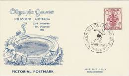 Australia 1956 Melbourne Olympic Games,Discus Trowing, Souvenir Card - Summer 1956: Melbourne