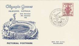 Australia 1956 Melbourne Olympic Games,Diving And Swimming, Souvenir Card - Summer 1956: Melbourne