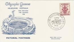 Australia 1956 Melbourne Olympic Games,Mens Swimming, Souvenir Card - Summer 1956: Melbourne