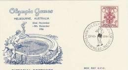 Australia 1956 Melbourne Olympic Games,Mens Walking, Souvenir Card - Summer 1956: Melbourne