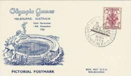 Australia 1956 Melbourne Olympic Games,Rowing, Souvenir Card - Summer 1956: Melbourne