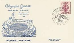 Australia 1956 Melbourne Olympic Games,Swim Stadium, Souvenir Card - Zomer 1956: Melbourne