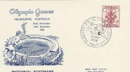 Australia 1956 Melbourne Olympic Games,Water Polo, Souvenir Card - Ete 1956: Melbourne