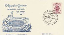 Australia 1956 Melbourne Olympic Games,Womens Hardles, Souvenir Card - Summer 1956: Melbourne