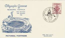 Australia 1956 Melbourne Olympic Games,Wrestling, Souvenir Card - Summer 1956: Melbourne