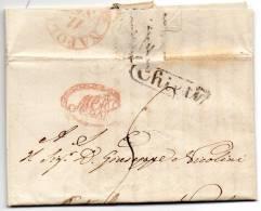 1837  LETTERA CON ANNULLO VEROLANUOVA  CHIETI IN CORSIVO + NAPOLI - 1. ...-1850 Vorphilatelie