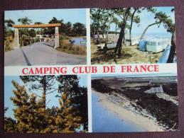 LES SABLEAUX / CAMPING CLUB DE FRANCE / LOT DE DEUX BELLES CARTES PHOTOS ( MULTIVUES ET LA PLAGE (AERIENNE)) - Ile De Noirmoutier