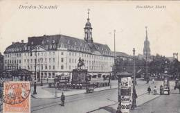 CPA ALLEMAGNE  DRESDEN NEUSTADT Neustädter Markt - Dresden