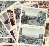Montecassino Sovrast.Rossa 15 Lire X Ricostruzione Abbazia 10 Cartoline Nuove Cpl - Altre Città