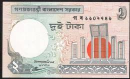 BANGLADESH  P6C   2  TAKA   1988 SEE SIGNATURE ! !  UNC. NO P.h. ! ! - Bangladesh