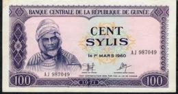 GUINEA   P19  100 SYLIS   1971    UNC. - Guinea