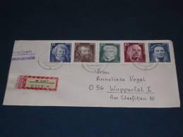 Brief Cover DDR Deutschland Recommande Einschreiben Suhl - Wuppertal 1975 Bedeutende Persönlichkeiten  Schweitzer Mann - [6] Democratic Republic