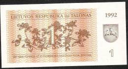 LITUANIE  P39   1   TALONAS   1992    UNC. - Litouwen