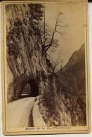 Isére - Gde Chartreuse - ROUTE DE LA GRAND    Marquée ODDOUX. Phot. Grenoble Au Dos (voir Scan) Photo Ancienne- Dauphiné - Old (before 1900)