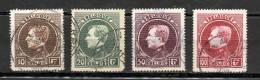 COB 289 - 292 Oblitérés Grand Montenez Dentelure 14 1/2 Tirage De Paris - 1929-1941 Grand Montenez