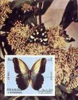 SHARJAH Papillons. (michel BF118) NON DENTELE; IMPERFORATE; Neuf Sans Charniere **. MNH - Mariposas