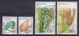 Kenya 2001 Mi. 747, 754, 760-61 5Sh, 35 Sh 100 Sh & 200 Sh Nutzpflanzen - Kenia (1963-...)