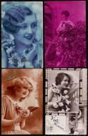 9 X CARTE PHOTO * VIVE MARIE * - FILLE  - MODE - FLEUR - TRES JOLIE - 2 Scans - Prénoms