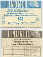 Telefonkarten Hüllen 2x100-Box Neu 17€ Schutz/Einsortieren Telefon-Karten TC 878 LINDNER 88x57 Mm For Telecards Of World - Matériel