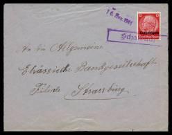16-8-1941 - Griffe Encadré Schalbach Sur Lettre Vers Strasbourg - Marcophilie (Lettres)
