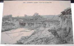 Cpa TONKIN - LAOKAI - Pont Sur Le Nam Thi ( Voir Description ) - Vietnam