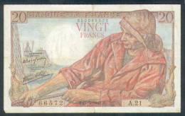 Billet De 20 Francs (pêcheur) - Type 1942 - Daté Du 21/05/1942 - 20 F 1942-1950 ''Pêcheur''