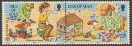 Isle Of Man 1989 Mi 406-407 ** Children´s Games Inside / Spiele Für Kinder / Jeux Pour Enfants / Binnenspelen - Europa - Puppen