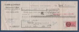 SEINE ET MARNE - LETTRE DE CHANGE SCIERIE DU CHATELET - ETABLISSEMENTS P. BRUN LE CHATELET EN BRIE - 1948 - Petits Métiers