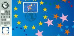098 Carte Officielle Exposition Internationale Exhibition Stockholm 1992 FDC France Marché Commun Internal Market Europe - Esposizioni Filateliche