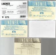 5x100-Box TC-Hüllen Telefonkarten New 43€ Schutz/Einsortieren Telefon-Karten 878 LINDNER 88x57mm For Telecards The World - Tarjetas Telefónicas