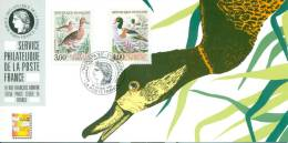 106 Carte Officielle Exposition Internationale Exhibition Dortmund 1993 FDC Canards Ducks Enten Fuligule Tadorne Belon - Ducks