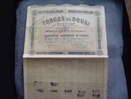 """Certificat Pour Une Obligation""""Forges De Douai""""1895. - Industrie"""