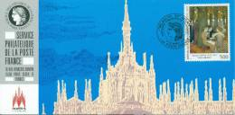 "115 Carte Officielle Exposition Internationale Exhibition Milanofil 1994 FDC Tableau Maurice Denis ""Les Muses"" Kunst - Esposizioni Filateliche"