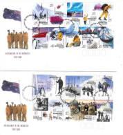 AAT 2001 Australians In Antartic Set 2 FDCs - Australian Antarctic Territory (AAT)