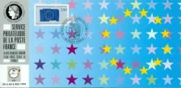 116 Carte Officielle Exposition Internationale Exhibition Essen 1994 FDC European Parlament Parlement Européen Europarat - Esposizioni Filateliche