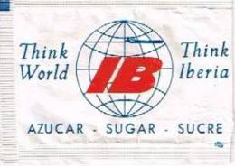 SOBRE DE AZÚCAR DE IBERIA AÑOS 80 / OLD IBERIA AIRLINES SUGAR PACKET / ANCIENNE ENVELOPE DE SUCRE - Azúcar