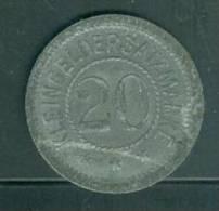 Kleingeldersatzmarke  Blei Und Silberhütte Braubach 20 Pfenning , Monnaie Nécéssité Allemande  Pia1609 - [ 3] 1918-1933 : Weimar Republic