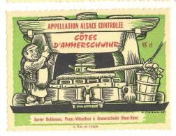 Etiquette De Vin D´Alsace - Côtes D'Ammerschwihr - Illustrateur  E. Noack 1953 - X. Ruhlmann à Ammerschwihr (67) - Etiquettes